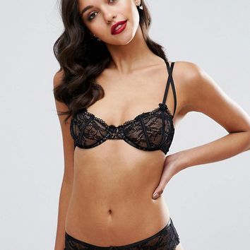 ASOS Gianna Lace Underwire Bra With Satin Detail at asos.com