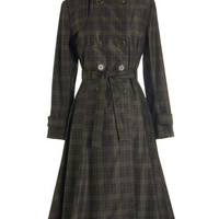 ModCloth Vintage Inspired Long Long Sleeve Time and Again Coat