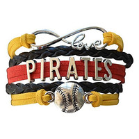 Infinity Collection Pittsburgh Pirates Bracelet, Pittsburgh Pirates Jewelry, Baseball Bracelet & Perfect Baseball Fan Gift