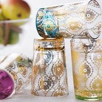 "Four ""Moroccan"" Tea Glasses - Horchow"
