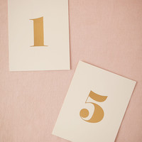 Gold Foil Table Numbers (5)