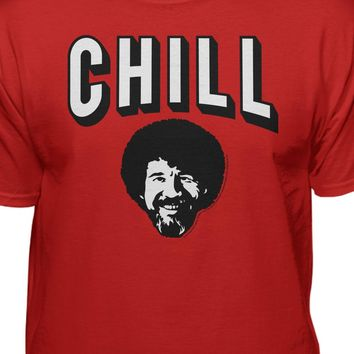 Bob Ross Official Licensed Chill T-shirt