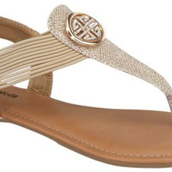 Such A Gem T-Strap Sandals ~ Champagne