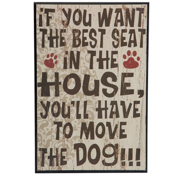Best Seat in the House Dog Wall Plaque