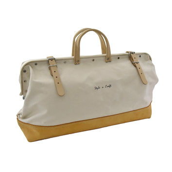 97517 - 20 Inch Mason's Canvas Tool Bag with Top Grain Leather Bottom