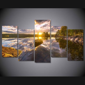 Sunrise Day Off 5-Piece Wall Art Canvas