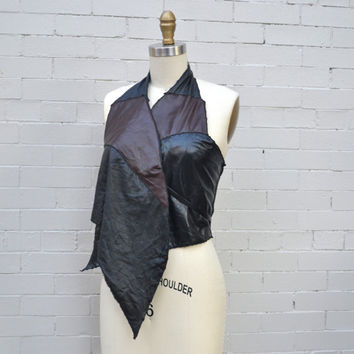 OOAK Leather Vest - Sheep's Leather Vest - Women's Leather Vest - Vest Leather - Upcycled
