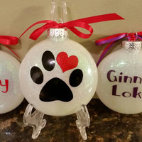 Christmas pet dog cat ornaments decorations personalized