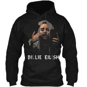 Christmas Fun Billie-Lover-Eilish-Music- Fan Cool Gift Pullover Hoodie 8 oz