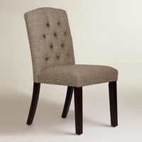 Linen-Blend Tufted Zoey Dining Chair - World Market