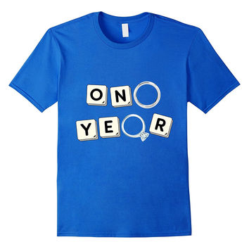 1 Year Anniversary T-Shirt / Cute Gift for Her or Him