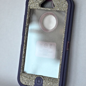 5 bucks Starbucks gift card Otterbox Case iPhone 5 Glitter Cute Sparkly Bling Defender Series Custom Case Silver/Purple