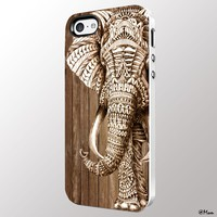 Wood Elephant Aztec Iphone 4/4s 5 5c 6 6plus Case (iphone 5c white)