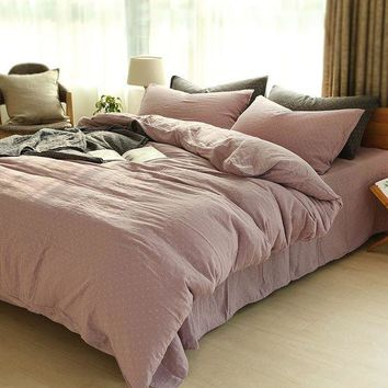 ac VLXC On Sale Bedroom Comfortable Hot Deal Home Bedding Double-layered Plaid Bed Sheet [45985693721]
