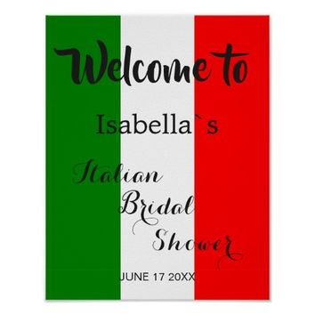 Welcome Sign   Italy Italian Bridal Shower