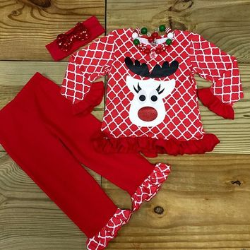 Christmas Lattice Reindeer Outfit