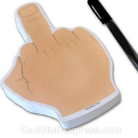 Up Yours Finger Sticky Notepad
