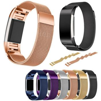 Magnetic Milanese Loop Watchbands Stainless Steel Smartwatch Strap Wristwatch Band For Fitbit Charge 2 Band Bracelet