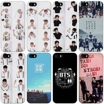 Bangtan BTS Number Black Plastic Case Cover Shell for iPhone Apple 4 4s 5 5s SE 5c 6 6s 7 Plus