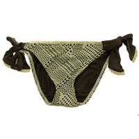 Lucky Brand Womens Lace Overlay Side Tie Swim Bottom Separates