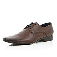 River Island MensBrown square toe formal shoes