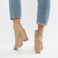 New Look Camel Heeled Boot at asos.com