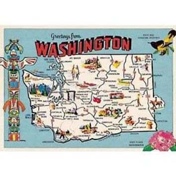 "Washington Map 20""x28"" Sheet"