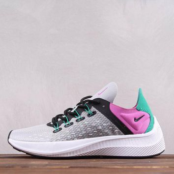 hcxx Nike Wmns EXP-X14 Fly Fashion Causal Running Shoes Grey Pink