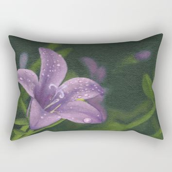 Purple lily flower Rectangular Pillow by Savousepate