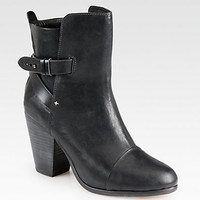 Kinsey Leather Ankle Boots - Zoom - Saks Fifth Avenue Mobile