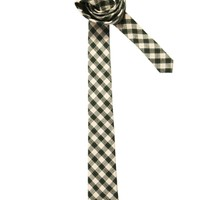 ASOS Gingham Tie With Grid