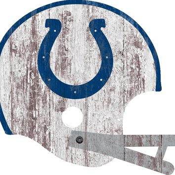 Indianapolis Colts Sign - Large Wood Helmet