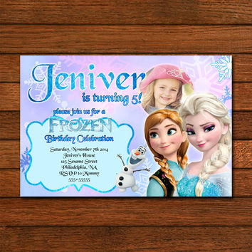 New Princess Elsa and Anna Invitation Invitation