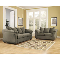 Darcy Living Room Set in Sage Fabric