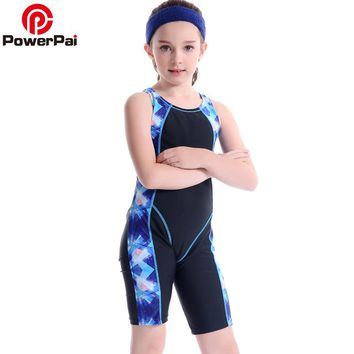New Professional Junior Student Train Swimming Suit Boys Girls Swimwear 2017 One Piece Swimsuit for kids Trunks Patchwork black