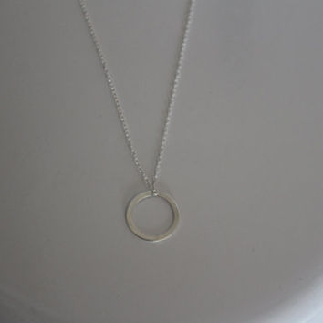 Necklace Circle Tag, Stirling silver