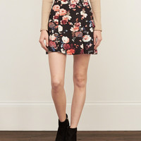 Floral Neoprene Skirt