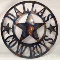 Dallas Cowboys Wall Art, torched  Cowboys custom design, football