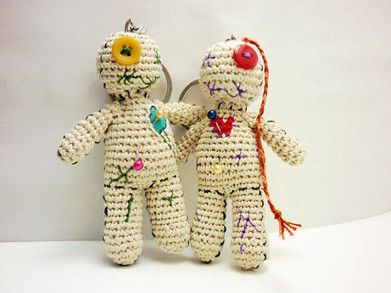 Crochet Amigurumi Voodoo Doll : Amigurumi voodoo doll pair, Voodoo doll from OlMillies on Etsy