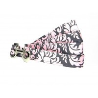 # Baby Pink Damask Dog Leash