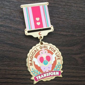 Magical Girl for Life Enamel Medal