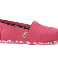 TOMS Pink Earthwise Women's Vegan Classics Slip-on Shoes ,
