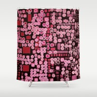 :: Pink Noise Ordinance :: Shower Curtain by :: GaleStorm Artworks ::