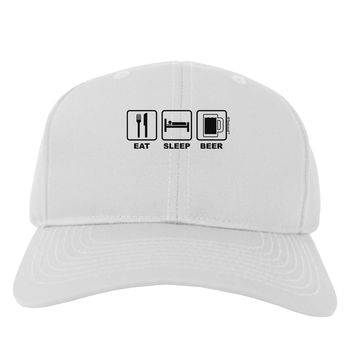 Eat Sleep Beer Design Adult Baseball Cap Hat by TooLoud