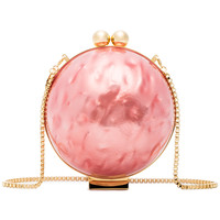 Marzook Pink Lucid Pearlescent Clutch - Farfetch