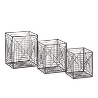 Square Metal Abstract Storage Crate Collection - Baskets & Bins - T.J.Maxx