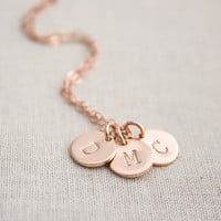 Personalized 14k Rose Gold Filled Initial Necklace