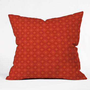 Caroline Okun Ruby Spirals Outdoor Throw Pillow