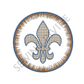 FLEUR de lis QUILT BLOCK Embroidery Design 4x4 5x7 6x10 Instant Download Motif Stitch Machine Embroidery Pattern