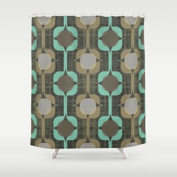 MCM Chainmail Shower Curtain by Lisa Jayne Murray - Illustration